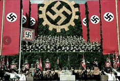 22 SHOCKING Color Photos From Nazi Germany -- Volkswagen Works cornerstone ceremony, near Wolfsburg, 1938