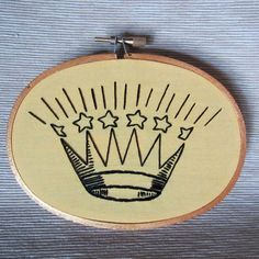 Vintage King or Queen crown illustration hand by MoonriseWhims