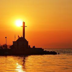 greek sunset, thessaloniki