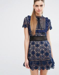 Image 1 ofSelf Portrait Louisa Guipure Dress