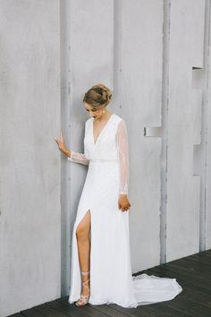 Antara by Pronovias available exclusively at White Lily Couture. Image / Kait Photography