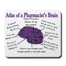 Atlas of a Pharmacists Brain 3 Mousepad