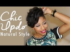 The Chic Natural gives us an easy spring/summer updo! #naturalhair http://youtu.be/yGwf4BNaOys