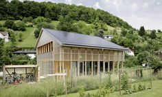 solar-powered, low budget home by HHF in Ziefen, a village near Basel, Switzerland.