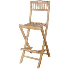 Anderson Teak Altavista Folding Bar Chair