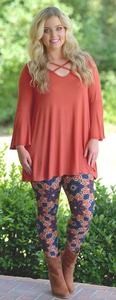 What's My Line Top - Rust - Perfectly Priscilla Boutique