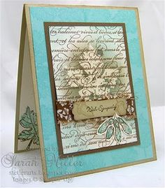 Beautiful card and a maybe try.....Fleur as the resist with written background?