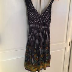Adorb Navy Polka Dot Party Dress M Forever 21 flattering summer dress. Great for weddings, showers, church, concerts. Forever 21 Dresses Mini