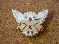 Owl Post Glitter Enamel Pin