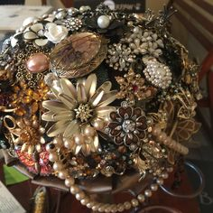 Brooch bouquet created by Connie Eden