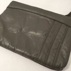 Vintage 1980s Dark Gray Purse by MyVintagePoint on Etsy