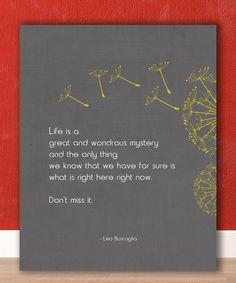 Motivational Typographic Poster Art, Inspirational Quote, Leo Buscaglia 8 x 10 print. $20.00, via Etsy.