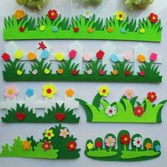 "Here is a summary of the best cheap and simple home improvement projects on the coast at . Search results for ""dibujo para pared tableros"" Easter Crafts, Felt Crafts, Diy And Crafts, Crafts For Kids, Arts And Crafts, School Board Decoration, Class Decoration, School Decorations, Felt Flowers"