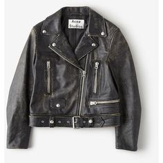 ACNE STUDIOS Mock Scratch Leather Moto Jacket