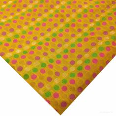 Multicolor Yellow Chanderi Silk Fabric