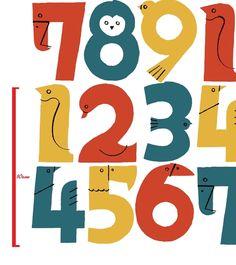 【生地110cm×50cm】コットン100% 鳥の数字