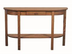 Amish Heritage Mission Half-Moon Console Table A fun half moon mission style look, this accent table has big impact. Solid wood construction and customized in choice of wood and stain.