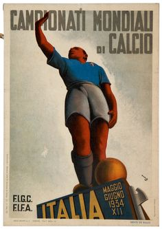 Gros Mario, 1934 Vintage Advertising Posters, Vintage Travel Posters, Vintage Advertisements, Poster Vintage, Foto Hdr, Italy National Football Team, Italian Posters, Frank Morrison, Vintage Italy
