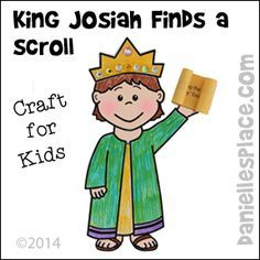 King Josiah find a Scroll Bible Craft for Sunday School and Children's Ministry from www.daniellesplace.com