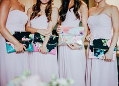 Pink bridesmaid dres