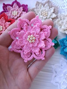 Excited to share the latest addition to my #etsy shop: Crochet flower PATTERN https://etsy.me/2GOMDAj