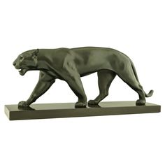 1stdibs | Art Deco Sculpture of Walking Panther by Max Le Verrier
