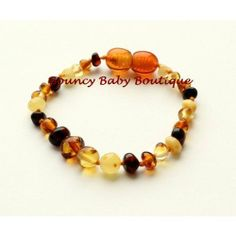 Bouncy Baby Boutique(TM) Baltic Amber Teething Bracelet/Anklet - B51 Baroque Multicolor by Bouncy Baby Boutique(TM). $8.99