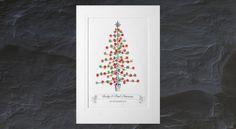 Thumb-Print Christmas Tree Christmas Wreaths, Christmas Crafts, Christmas Tree, Thumb Prints, Book Art, December, Stationery, Art Prints, Pretty
