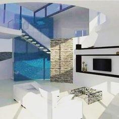 #interierdesign #interior #interierovydesign #livingroom #obyvacka #modern #white #stairs #architects #architecturelovers #familyhouse White Stairs, Architects, Flat Screen, Photo And Video, Living Room, Studio, Interior, Modern, Instagram