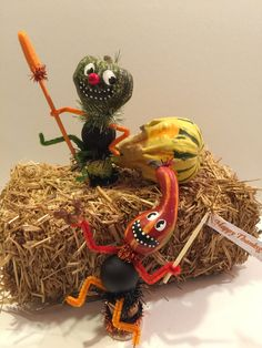 Vintage Style Kitsch Gourd Pipe Cleaner Fall by DaffodilLaneStudio