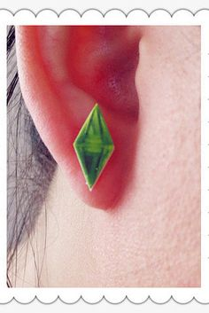 These Sims 2 earrings: | 28 Wardrobe Essentials For Female Gamers