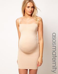 Image 1 ofASOS Maternity Exclusive Seamfree Dress With Support For The Perfect Bump