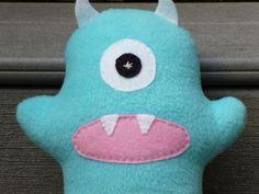 Stuffed Monster Custom Made Blue Plush by FranconiaRidgeStudio, $12.00