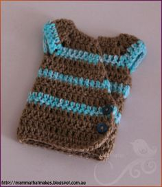 Mamma That Makes: Striped Kimono It is designed to fit a premature baby of  20 weeks gestation