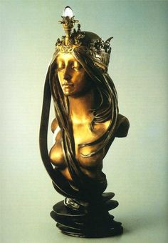Alphonse Mucha - The Nature  (I never knew Mucha did sculpture, cool!)...the perfect focal point of a special niche.