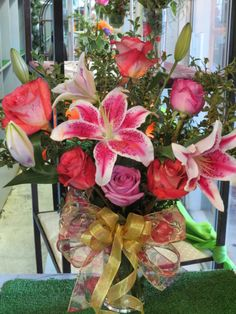 Just one of many different arrangements available from our home