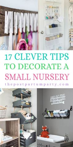 , 17 Clever Tips to Maximize Space in Small Nursery , How to Set Up A Baby Nursery in A Small Space - Get nursery organization ideas for creating a nursery in a small space. You can use storage hacks and . Bedroom Storage Ideas For Clothes, Bedroom Storage For Small Rooms, Small Space Nursery, Small Nursery Layout, Small Baby Space, Nursery Ideas Neutral Small, Small Space Storage, Baby Room Boy, Baby Nursery Diy