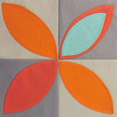 42 Quilts: Modern Monday - Block 50: Orange Peel #quilt #block #tutorial