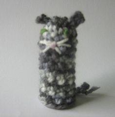 crochet puppet finger  small marionette Cat Kitten  by nutkaart