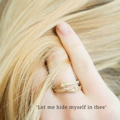 Let me hide myself in thee. Is the title of this collection and is about the wish to hide yourself in someone you love. This imprint of hair, a fine braid gives Hair Rings, Braid, My Design, Jewelry Design, Wedding Rings, Engagement Rings, Handmade, Fashion, Enagement Rings