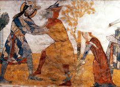 Fresco from Church of Catherine of Alexandria, Vel'ka Lomnica, Slovakia.  1300-1320