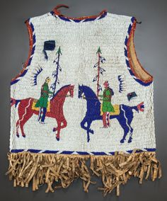 A SIOUX PICTORIAL BEADED HIDE VEST. c. 1890... American Indian | Lot #50253 | Heritage Auctions