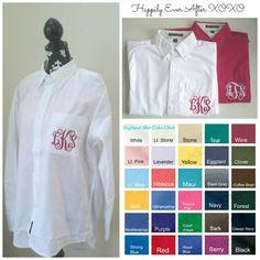 6 SIX Men's Oversize Button Down Pocket Monogram Wedding Shirts for Brides, Maid Of Honor, Bridesmaids, Jr. Bridesmaids