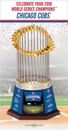 Mark the peak of 108 years of Cubs baseball! This limited-edition Worlds Series Champions trophy is a must for fans and a phenomenal way to commemorate an important moment in Major League Baseball history. Only 10,000 will ever be made!