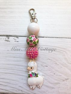 Sweet Little Llama Chunky Beads Zipper Bag Charm/Backpack/Purse/Diaper bag/baby/keychain/bag bling/gift by MissMelsCottage on Etsy Diaper Bag Purse, Backpack Purse, Diy Jewelry Making Tools, Bubble Necklaces, Chunky Beads, Organza Gift Bags, Etsy Crafts, Zipper Bags, Bead Crafts