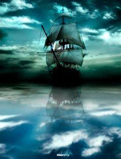 My blue eyed Son has a sailing ship tatoo..very striking.