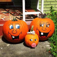 cute pumpkin faces to paint bing images pumpkins pinterest