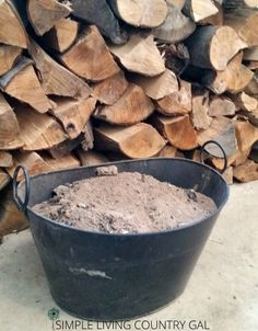 How to easily use wood ash in your garden and compost pile.