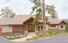 Rustic mountain stone and stucco home