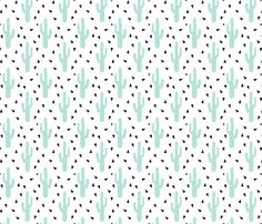 cactus mint tri triangle trendy design for minimal kids baby desert southwest fabric by charlottewinter on Spoonflower - custom fabric